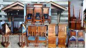 Solid Blackwood furniture (T Piper circa 1929) from Masonic Lodge Devonport Devonport Area Preview