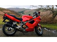 Ducati ST4S Red Sports Tourer Motorbike with luggage 12 MONTH MOT