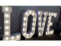 Wedding - 5 Foot LOVE Letters - LED - Just £95 Full set up & Collection included