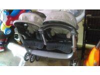 Double Pram ( Mamas and papas) for sale