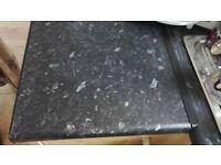 93*23 matt black slate laminate worktop