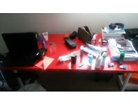 immaculate desk - red color