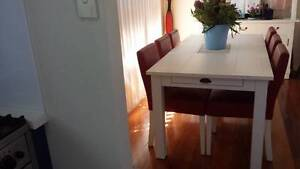RED DINING CHAIRS LEATHER - SIX   Table sold SEPARATE   $500.00 Bilgola Pittwater Area Preview