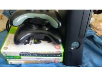 xbox 360 black 250gb console with games