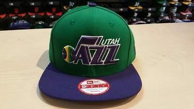 Utah Jazz Logo (New Era NBA Utah Jazz Team 2 Tone Old School Logo 9fifty Snapback Cap Hat)