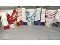 McDonalds Coco Cola and Coffee cups