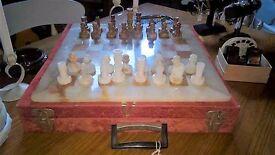vintage marble chess set