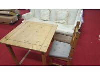 ikea dining table with 1 matching chair