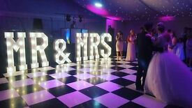 Hire our stunning 5ft 'MR & MRS' add the WOW Factor to your special day £250