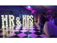 Hire our stunning 5ft Giant Light up 'MR & MRS' add the WOW Factor to your special day £250