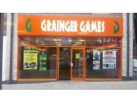 Full shop front with glass and Electric mesh shutter for sale.