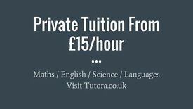 London Tutors - £15/hr - Maths, English, Science, Biology, Chemistry, Physics, GCSE, A-Level