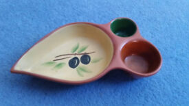 Ceramic Olive Serving Dish