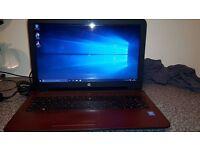 laptop hp sleekbook in red