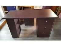 Desk with 3 drawers ans 3 shelves £10