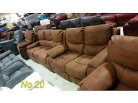 Tan suede 3 & 2 seater sofa