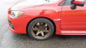 2015 16 17 18 Subaru STI EVO X 18 inch winter alloy n tire package ( clear STI Brembo caliper)