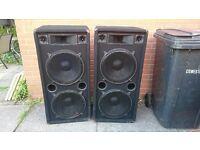 Omnitronic 3 way speaker system 1200w Dj/live music speakers