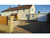 Pensford - BS39 - 3 bed semi-detached house with garage, drive, garden, woodburner, conservatory.