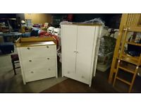 Two tone nursery furniture with brand new handles excellent condition