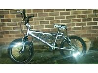 "KIDS BMX BIKE 18"" WHEELS FULLY SERVICED SMOKE CHROME COLOUR AND BLACK USED CONDITION READY TO GO"