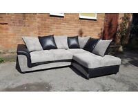 Lovely BRAND NEW black and grey cord corner sofa ,new and packed ,any side in stock,can deliver