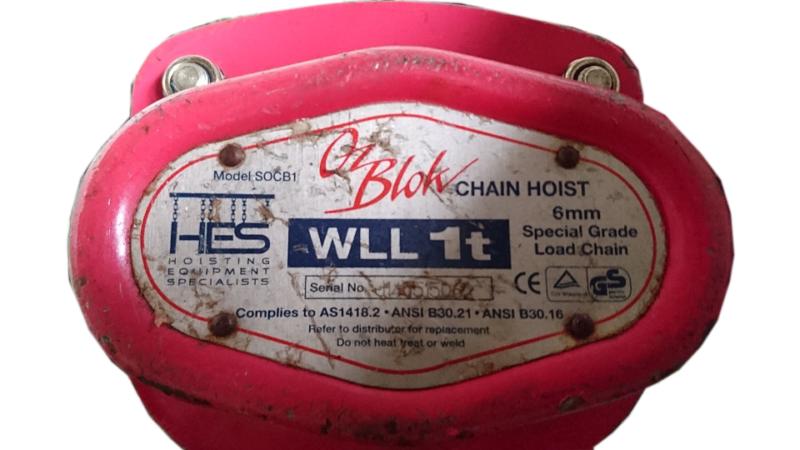 968-Chain Hoist Block & Tackle 1 ton x 8 mtr lift Oz Blow lifting