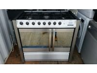 Stainless Steel 'Belling' Dual Fuel Range Cooker - Excellent Condition / Free local delivery