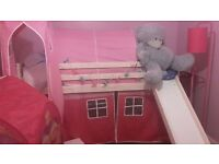 Beautiful girly princess high sleeper single bed, perfect condition!