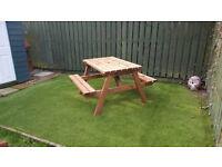 Heavy duty garden picnic bench 4 foot