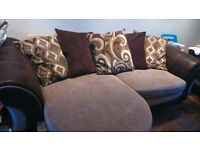 Used DFS 4 seater pillow back lounger