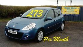 2010 RENAULT CLIO 1.2 petrol (£73 p/month)