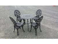 Beautiful bristo set table and 2 chairs also available with 4 chairs