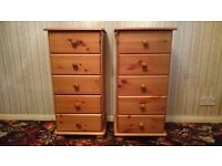 Pine drawer units 2pc. Excellent condition.