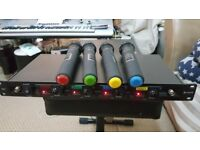CHORD QUAD QU4 UHF WIRELESS MICROPHONE HANDHELD SYSTEM