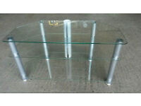 Glass 3 Shelves TV Unit