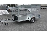 HEAVY DUTY TRAILERS WITH MESHSIDES & RAMP LED LIGHTS SPARE WHEEL