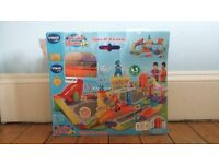 VTech Toot Toot Drivers Super Raceway Playset. Brand new in box. Opened but unused. Unwanted gift.