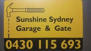 Sunshine Sydney garage door and gate repair East areas service Mosman Mosman Area Preview