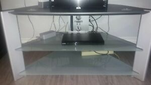TV stand with Glass Shelves - Just reduced price!