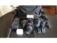 Sony Alpha SLT-A77 24.5 Megapixel DSLR camera setup
