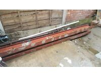 2 X steel I beams (RSJ) 285 x18