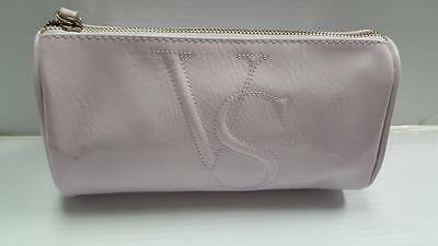 Victoria's Secret Glossy Faux Leather Make up Case Cosmetic Travel Purse Lilac