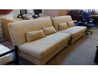 2 matching beige sofa beds