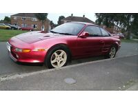 TOYOTA MR2 RED 1992 amazing looking car,JAPANES IMPORT AUTOMATIC