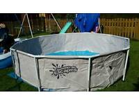 12 foot frame swimming pool with pump and cover