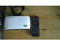 Android TV box. Includes KODI with UK tv and Exodus (movies and tv).
