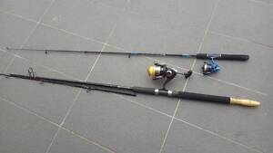 2 Fishing Rods UGLY STIK and Bait Kit Bexley Rockdale Area Preview