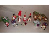 13 x Vintage 1950 - 1980s Christmas Tree Decorations Great Condition