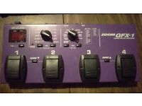 Zoom GFX-1 Multi Effects Pedal Unit for Guitar